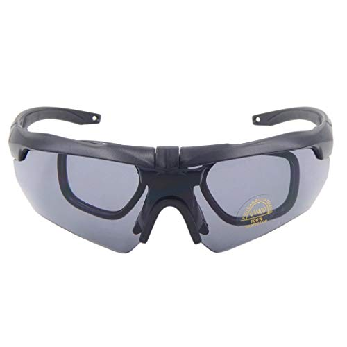 iCerber sonnenbrillen Chic Lässig Einzigartig Rockbros Radfahren Outdoor-Sportbrillen Fahrrad polarisierte Brille Sonnenbrille 3 Objektiv UV 400 ❀❀2019 Neu❀❀(schwarz)