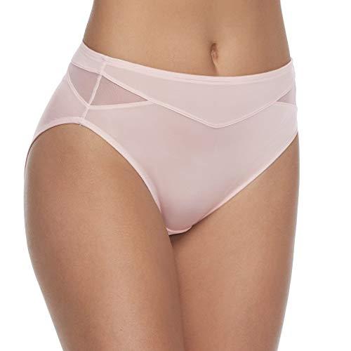 Vanity Fair Damen Breathable Luxe Hi Cut Panty 13185 Unterhose, Sheer Quartz, XX-Large (35) -