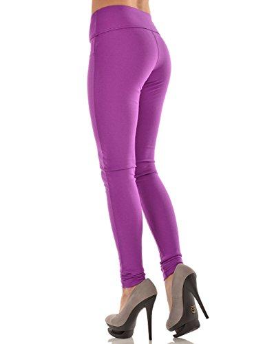 FL-GI Leggy Tone einfarbige Leggings violett hoher Bund (Gi Bund Elastischen)