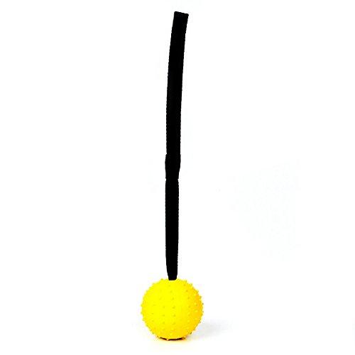 despielzeug 30Cm Ball Mit Bogenseil Für Hund Unverwüstlichen Gummiseil Ball Spielzeug Kautable Interaktives Beständig Saubere Zähne, Gelb ()