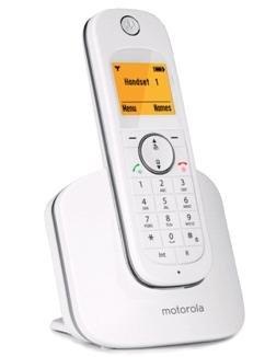 Motorola D1001I Cordless Phone  White silver
