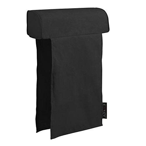 EXTROITALY Felipe appuie-tête pour canapé avec revêtement en Microfibre 60X16 Noir