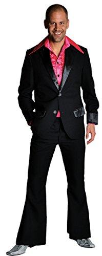 M207201-2-M schwarz Herren Disco Anzug-Kostüm Gr.M=52