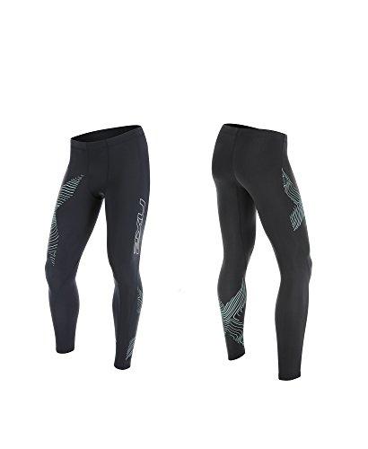 2XU Herren Compression Shorts Perform Kompressionshose Steel/Luminescent Logo