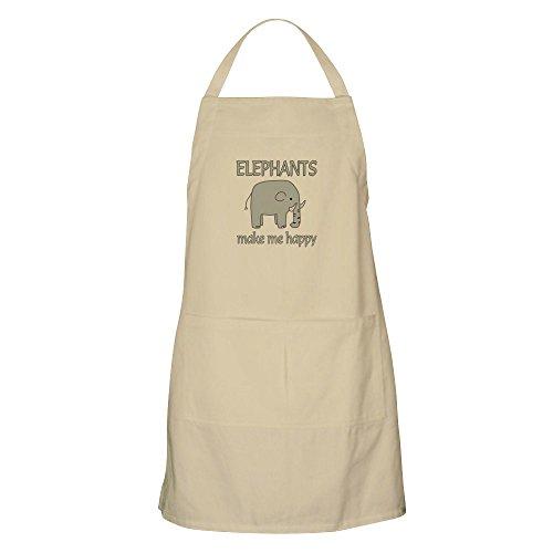 CafePress–elefante feliz–Delantal de cocina con bolsillos, delantal de barbacoa, hornear delantal
