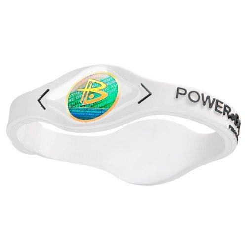 Power Balance Silikon-Armband, White/Black, S, GWSA09WT00BKSP