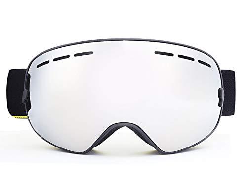 MaxAst Sportbrille Nacht Motorradbrille Herren Damen Schutzbrille für Brillenträger Schwarz Silber+Eva Box