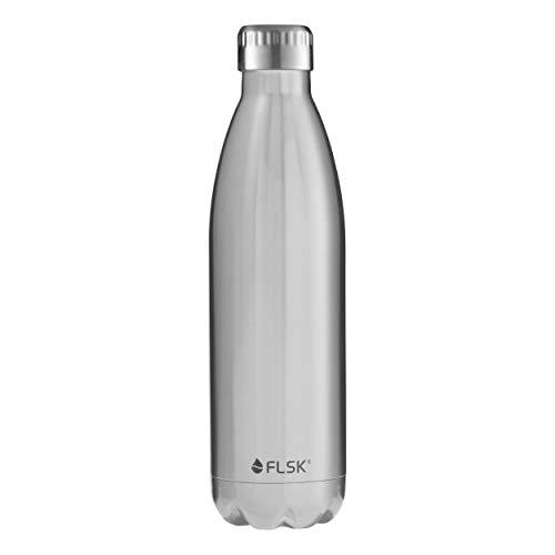 FLSK Das Original Edelstahl Trinkflasche - Kohlensäure geeignet | Die Isolierflasche hält 18 Stunden heiß und 24 Stunden kalt | ohne BPA und rostfrei - 750ml