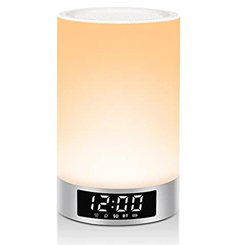 FYN Colorful radio Bluetooth audio lights time alarm clock LED