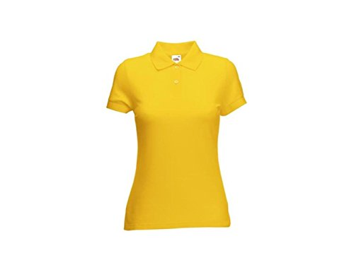 POLO DONNA LADY FIT 65/35 FRUIT OF THE LOOM Girasole