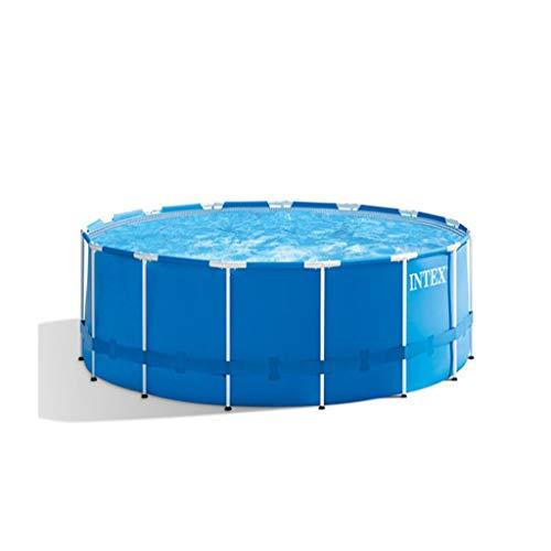 Metallrahmen-Swimmingpool Mit Filterpumpe, Blau, Familiengarten-Planschbecken (120 X 120 X 29,9 Zoll / 305 X 305 X 76 cm, 4485 L)