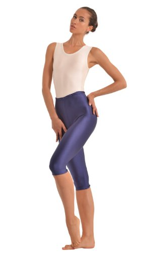 Turnarena Damen Spandex Capri Leggings, Größe:Damen 48;Farbe:weiß (Farbe Spandex Weiße)