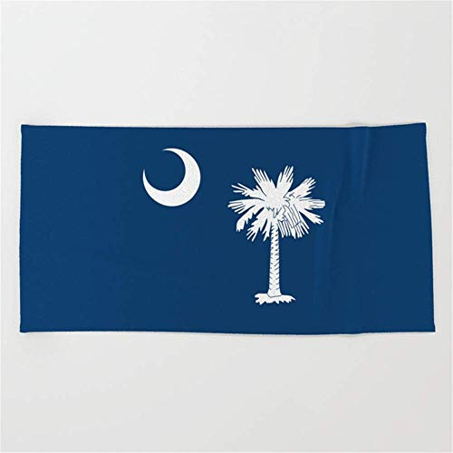 fghjdfcnfd Flag South Carolina,America,us,Savannah,Palmetto,Carolinian,Cotton,Confederate,Goose Creek,Rock Hill Beach Towel 31x51 Inches - Baumwolle Confederate Flags