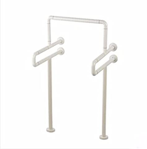 QPSSP Nylon Urinal Armrest, Stainless Steel Antiskid Barrier Disabled Old Man, Urinal Armrest, Yellow Belt