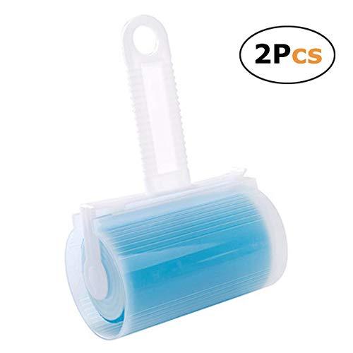 pet-lifeeling Fusselrolle für Haustierhaare, leicht zu entfernen, Bürste, wiederverwendbar, waschbar, 2 Stück blau -