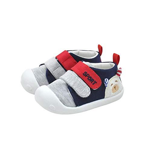 DEBAIJIA Bébé Chaussures Premier Pas pour Enfants Garçons Filles de 1 2 Ans, Chaussons en Coton de Marche Semelle Souple Antidérapant, Baskets Style