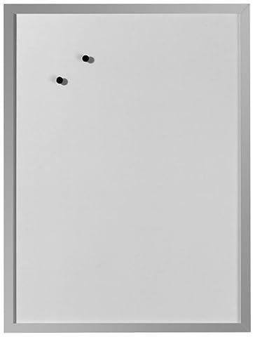 Herlitz 10524627 Tableau blanc aimanté 40 x 60 cm (Blanc/cadre