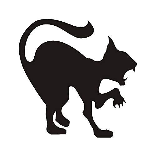 aufkleber Halloween Dekoration Zischen Katze Vinyl Aufkleber Wandkunst, wütende Katze Hallowmas Home Decor Zubehör 44x44cm ()