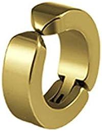 Xuxuou 1PC Pendiente de Hombre Pendientes de Acero de Titanio para Hombres Par Pendientes Oro