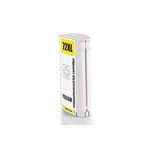 Inkadoo® Tinte passend für HP DesignJet T 795 ersetzt HP 72 , NO72 , Nr 72 C9373A - Premium Drucker-Patrone Kompatibel - Gelb - 130 ml