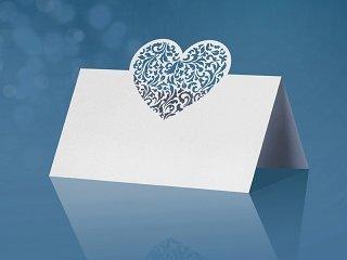 10 Tischkarten Laser Cut Herz Platzkarten Hochzeit