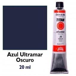 ÓLEO AZUL ULTRAMAR OSCURO TITAN Extrafino 6 - 20ml. Nº 56