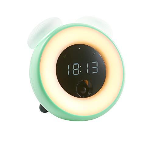 t Clock, Alarm Clock mit Snooze Mode, Touch Control,Geeignet für Erwachsene, Kleinkinder, Jugendliche USB Laden-Grün ()