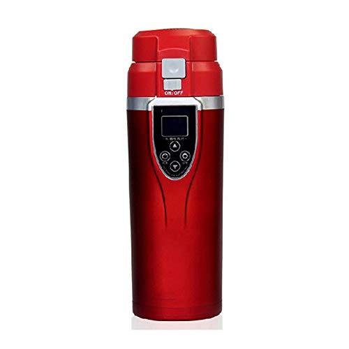Smart Cup Car Elektro-Cup-Auto-Ladegerät Heizbecher mit USB-Laderegler, Funktionen zum Kochen, Warmhalten, Zubereiten von Tee,Red