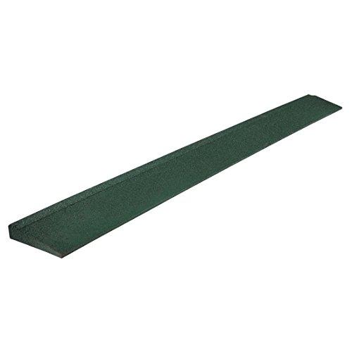 fallschutzmatten spielplatz Ultrakidz 331900000173 Gummimatte, Eckstück für die Spielzone im Garten, Antirutschmatte, Fallschutzmatte für den Außenbereich, 100 x 11 x 2,5, Grün
