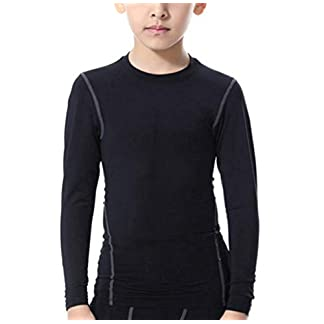 Kids Skins Base Layer Boys Compression Top Quick Dry Long Sleeve T Shirts for Football Training 6