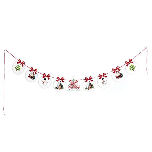 Multi Style Weihnachten Banner, Weihnachten Girlanden Leinen Bunting Banner Kette Wimpelketten Weihnachtsflagge Für Wände Fenster Äste Innen Draußen DIY Dekoration