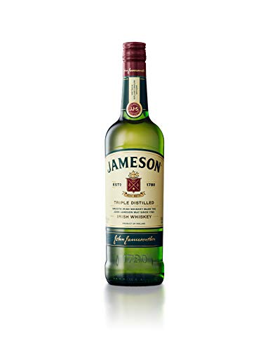 Jameson Original Irish Whiskey, Blended Irish Whiskey mit Jameson Single Irish Pot Still Whiskeys und Grain Whiskeys (1 x 0,7 L) 18/0 Dessert