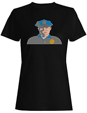 Novedad divertida del arte de los eeuu de los EEUU del policía camiseta de las mujeres a634f