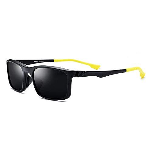 KJDFN TR90 Sportbrille Outdoor Fahrrad Fahren Polarisierte Sonnenbrille Unisex Grau Objektiv UV400 Schutz Trend (Farbe : Yellow)