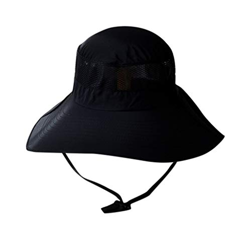 QUINTRA Hut-Sommer-Normallack-Masche Outdoor Sun Hat Kinnriemen Verstellbar Bucket Hat Fishing Cap