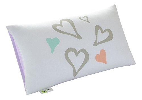 12-zoll-kissen (Greenbuds - Organische Baumwolltoddler-Kissen-Abdeckung Auszug Neigung 12 inch x 20 inch. Herzen)