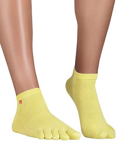 Farbton-hosen-socken (Knitido Track & Trail Ultralite Fresh   Atmungsaktive Sneaker-Zehensocken aus Baumwolle und Coolmax: für Sport. Extra dünn, für Sneaker, Turnschuhe, Barfußschuhe, Größe:43-46, Farbe:Yellow Green)