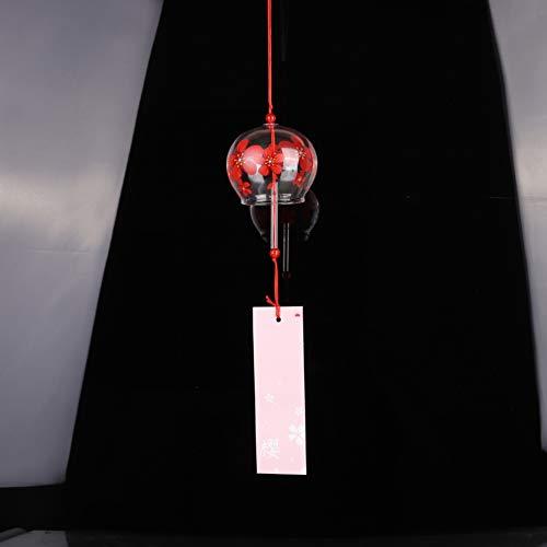 Iswell Japan Style Handpaint Sakura Glas Windspiele Windspiel Wind Bells Home Garden Office Hängedekorationen -