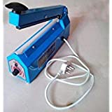"""VI=P Popular Power Electronics 8"""" Inch Hand Sealing Machine (Impulse Sealer) For Packing Plastic & Aluminium Pouch And Bags,Blue"""