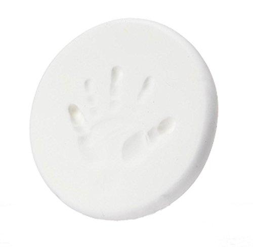 Covermaosn Baby Handabdruck Und Hussabdruck Weicher Lehm, Impressum Casting Fingerabdruck (Weiß)