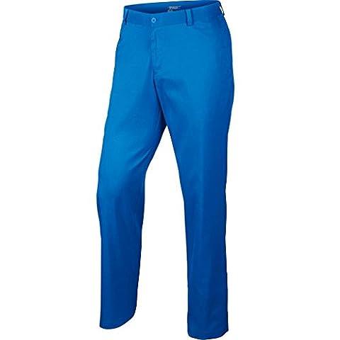 2015 Nike Dri-Fit Flat Front Funky Pants Mens Golf Trousers Photo Blue 32x32