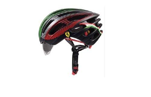Helm mit Sonnenschutz von Ferrari 2 Farben wählbar rot und schwarz (schwarz)