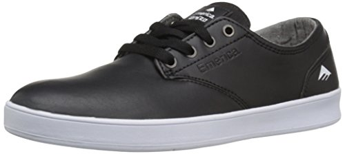 Emerica The Romero Laced, Chaussures de skateboard homme Black-White-White