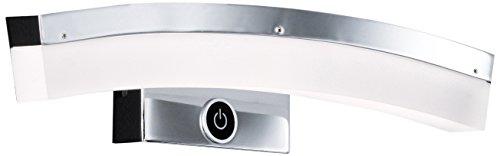 WOFI Wandleuchte, 1-flammig, Serie Colmar, 1 x LED, 6.8 W, Höhe 8 cm, Tiefe 31 cm, Kelvin 3000, Lumen 440, chrom 4234.01.01.0000