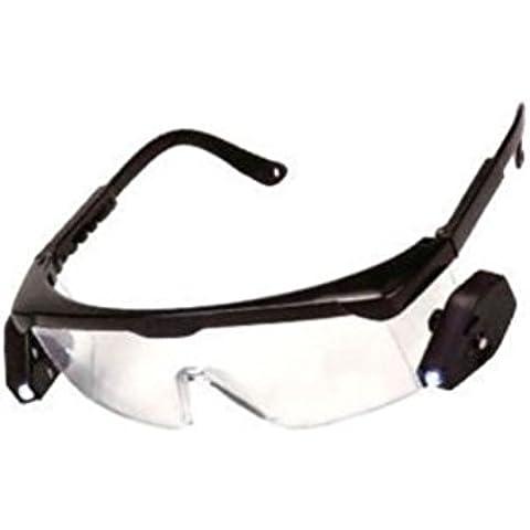 Occhiale occhiali protettivi da lavoro con 2 luci a LED modellismo lettura