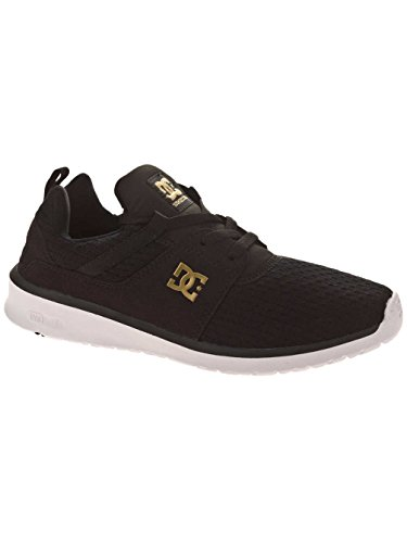 DC Shoes Heathrow Se J, Baskets Basses Femme Noir - Black/Gold
