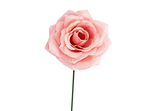 IRPot - 12 pz. Rose Artificiali Vari Colori A15637 (Rosa Cipria)