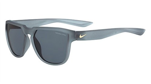 Nike Golf Fly Swift Sunglasses, Matte Wolf Grey/Gold Frame, Dark Grey Lens image