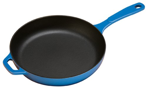 Lodge Color EC11S33 Enameled Cast Iron Skillet, Caribbean Blue, 11-inch by Lodge