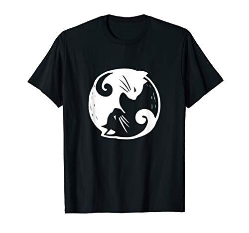 Yin Yang Zeichen T-Shirt Cats Katze Balance Symbol Geschenk